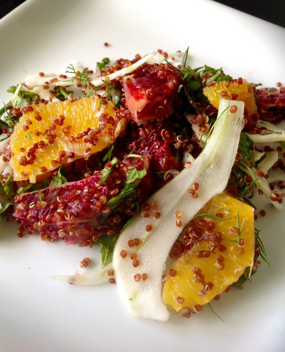 Red Quinoa Fennel Citrus Salad - Healthy, Gluten-Free, Whole Grain, Organic, Heirloom, Oil-Free, Plant-Based, Vegan Recipe