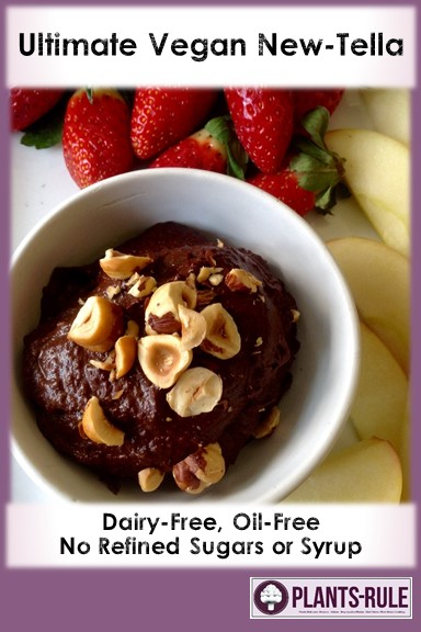 Chocolate Hazelnut NewTella Dessert Spread - Healthy, Gluten-Free, Oil-Free, No Refined Sugar, Plant-Based, Dairy-Free Vegan Pin