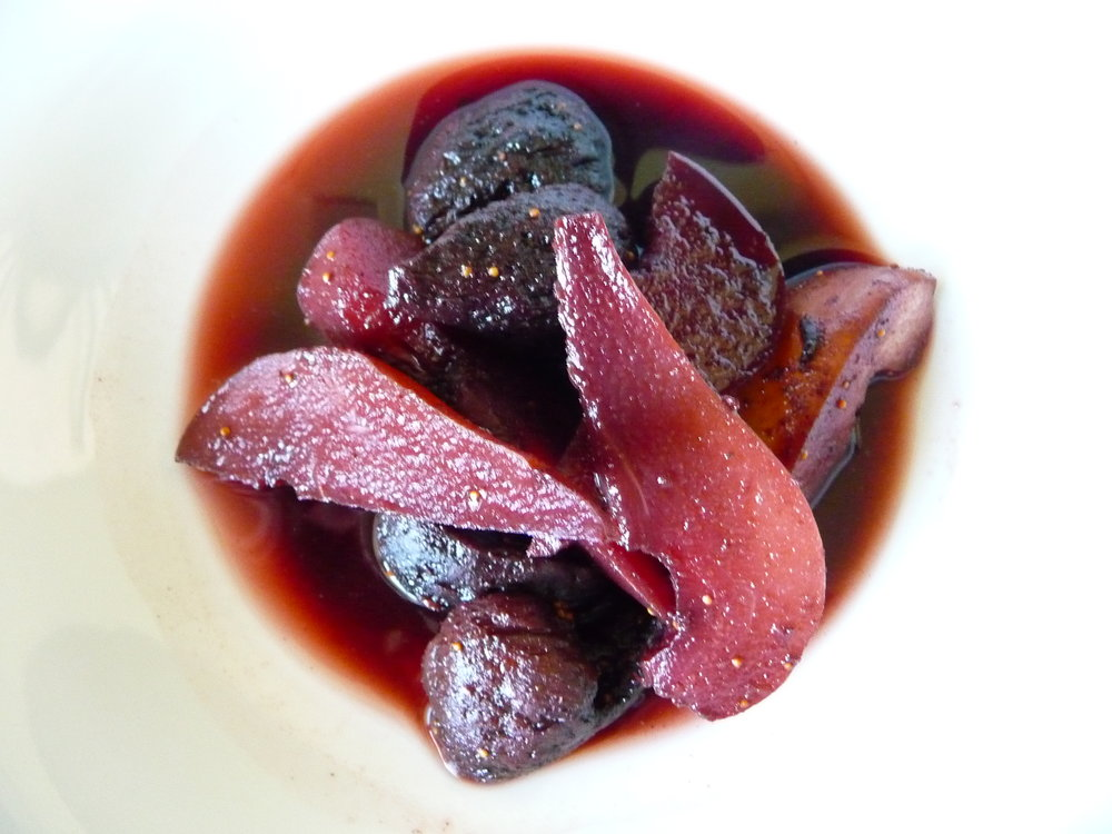 Five Spice Poached Pears and Figs - Healthy, Gluten-Free, Oil-Free, No Sugar Added, Plant-Based, Vegan Elegant Dessert