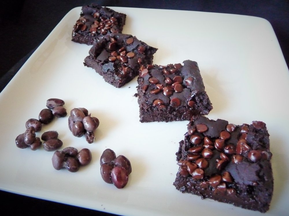 Gluten-Free Black Bean Chocolate Fudgy Brownies - Healthy, Oil-Free, Plant-Based, Dairy-Free, Egg-Free, Vegan Dessert