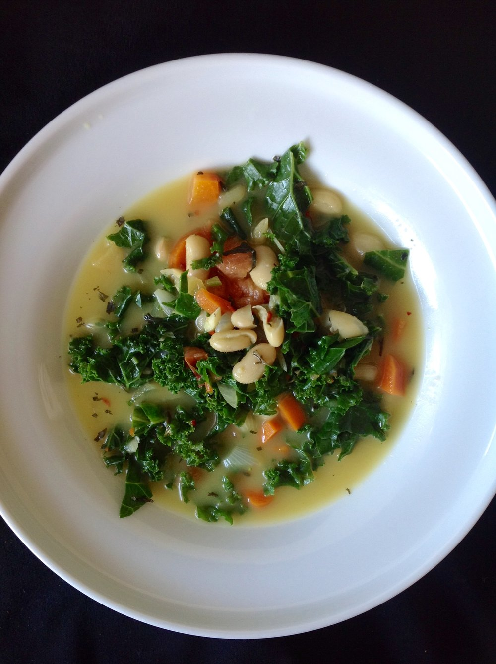 Cavolo Nero Soup - Healthy, Gluten-Free, Oil-Free, Italian, Kale, White Bean, Plant-Based, Cheesy, Hearty, Vegan