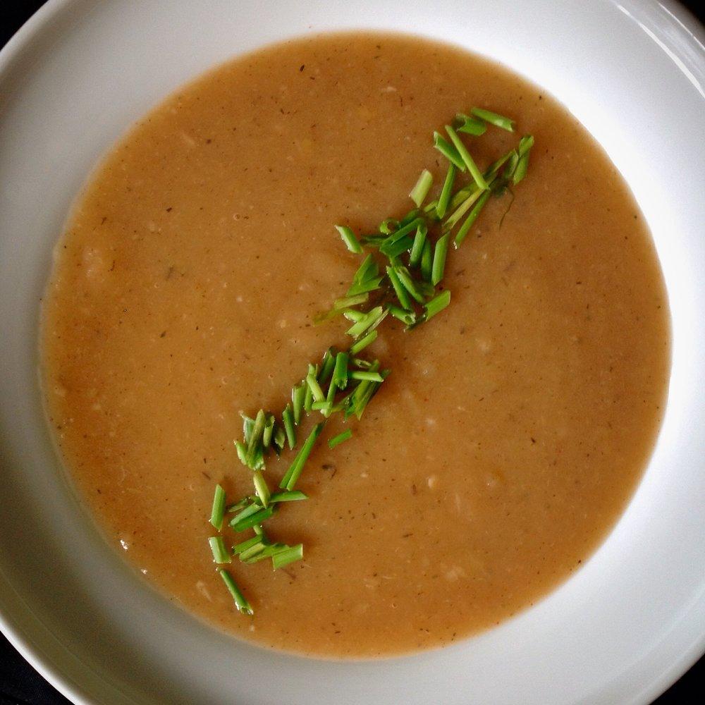 Creamy Vegan Potato Leek Soup - Healthy, Gluten-Free, Oil-Free, Plant-Based, Dairy-Free, Comfort Food, Vicchysoisse, Vegan
