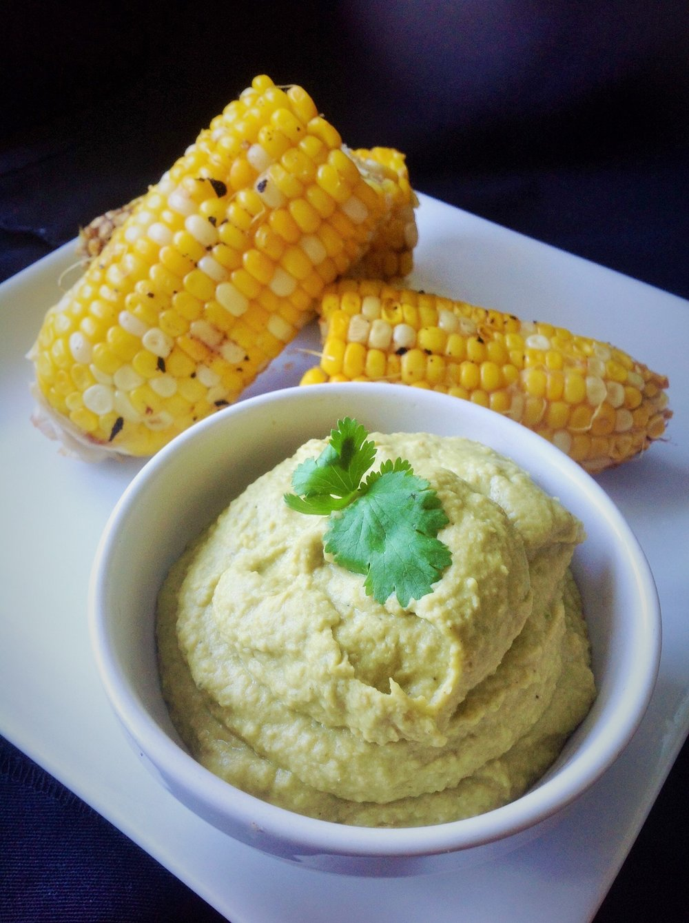 Poblano Hummus - Healthy, Gluten-Free, Oil-Free, Creamy, Spicy, Mexican Vegan Dip Recipe