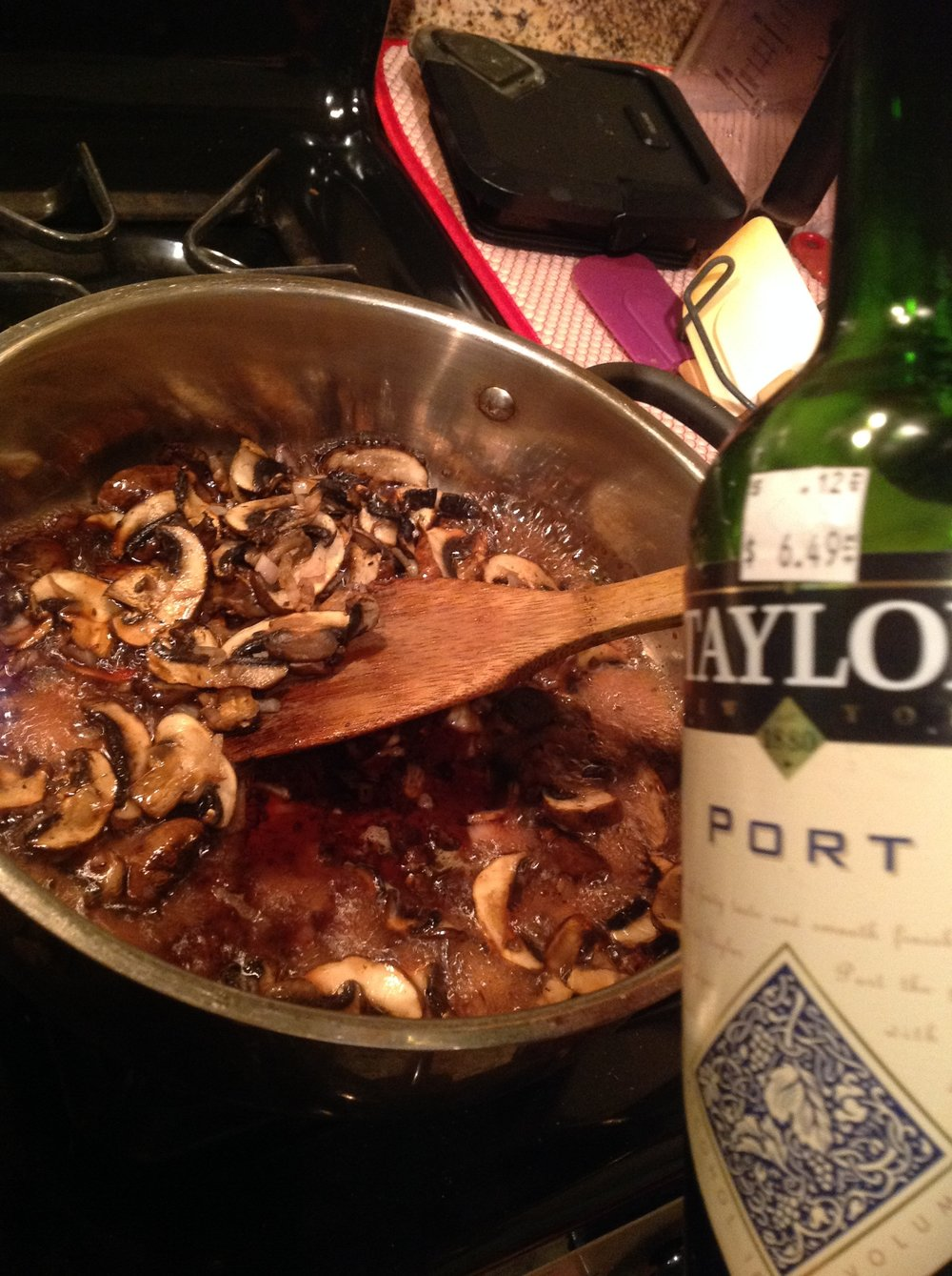 Chef's Tip - Adding Port Wine to Mushroom Gravy Adds a Layer of Sweetness to Balance the Flavor