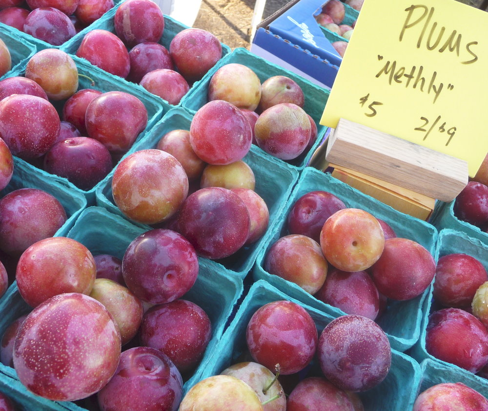 Chef's Tip - Let the Market Inspire You!  Try Methly Heirloom Plums in this Healthy, Plant-Based Recipe