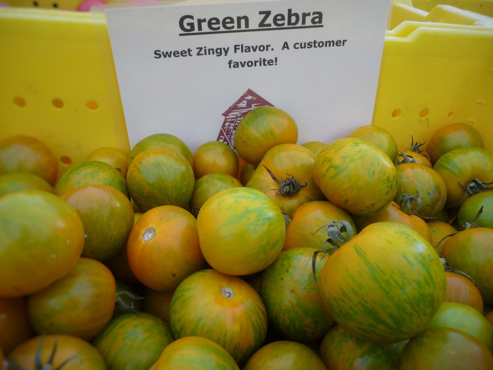 Chef's TIp: You Can Also Make this with Heirloom Green Zebra Tomatoes