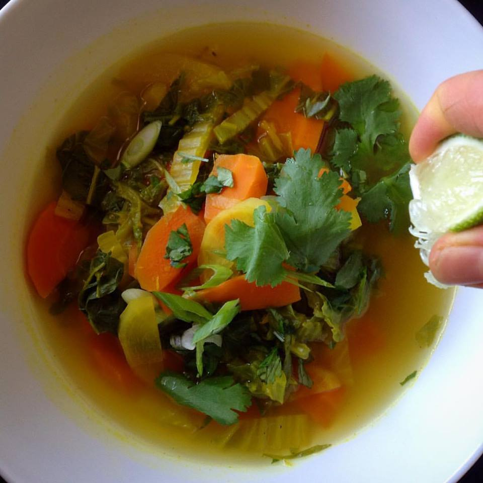 Detoxifying Napa Cabbage Soup - Healthy, Gluten-Free, Oil-Free, Plant-Based, Detox Vegan Soup Recipe with Ginger and  Tumeric