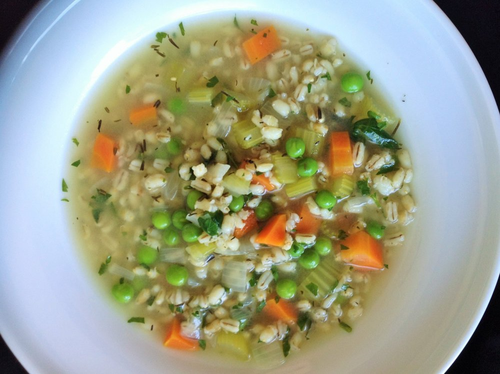 Irish Vegetable Barley Soup - Healthy, Whole Grain, Plant-Based, Oil-Free, Vegan Recipe