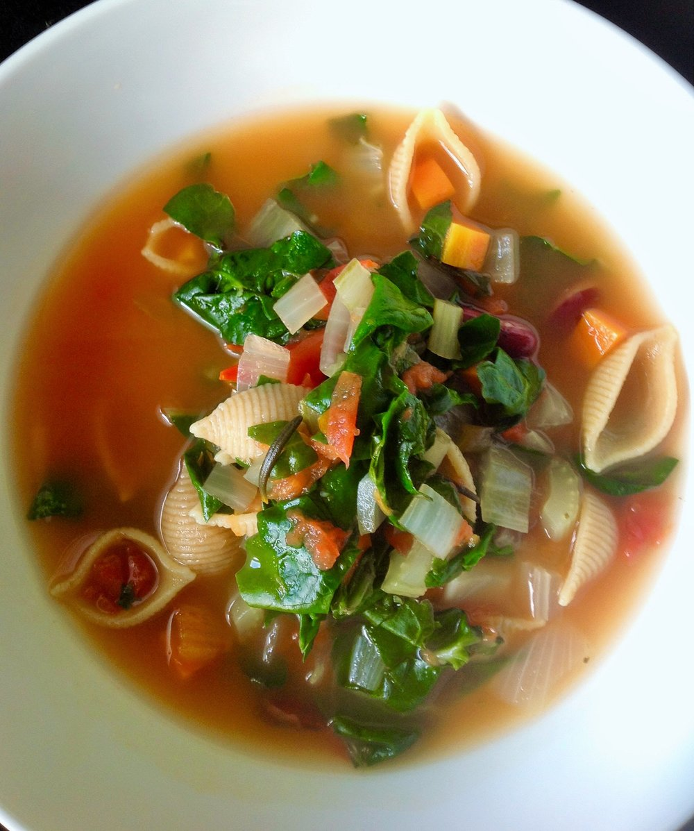 Italian Minestrone Soup - Healthy, Whole Grain, Plant-Based, Oil-Free, Vegan Recipe