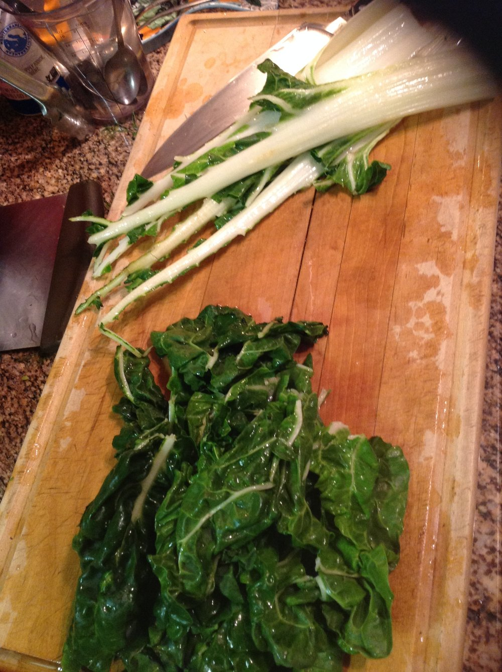 Chef's Tip - Use both the stems and greens of hearty, healthy Swiss Chard for crunchy texture and sweet flavor
