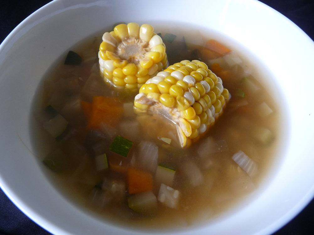 Peruvian Summer Corn Soup - Healthy, Plant-Based, Gluten-Free, Oil-Free, Vegetable Vegan Soup Recipe