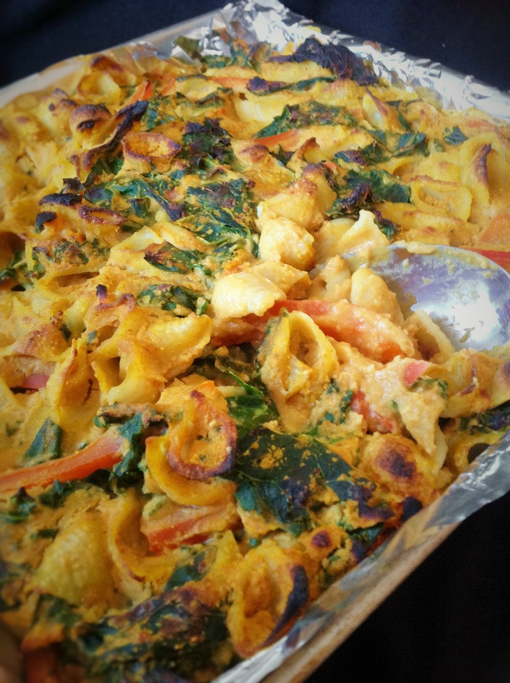 Cheezy Kale Pasta Bake - Healthy, plant-based, dairy-free, oil-free, gluten-free vegan recipe