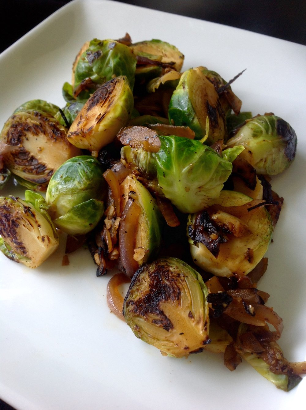 Caramelized Smoky Brussels Sprouts - Healthy, Plant-Based, Oil-Free, Gluten-Free, Vegan Recipe