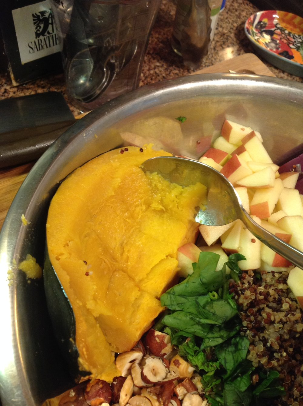 Chef's Healthy Tip: The natural sweetness from the roasted squash will balance the savory flavors of the stuffing