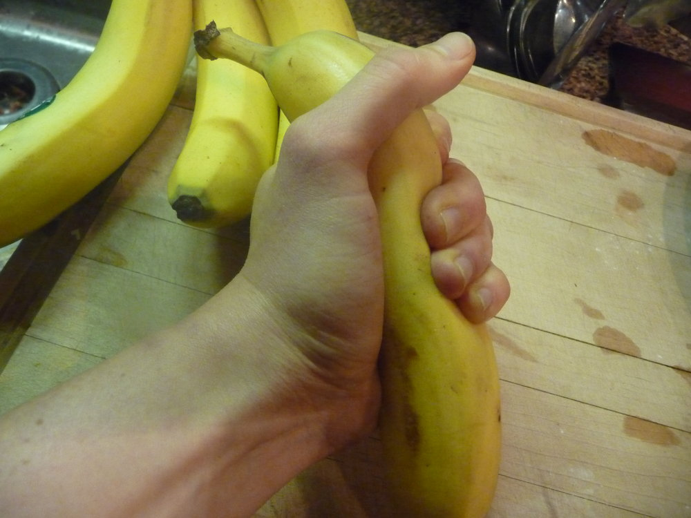 Chef's Tip: Squish bananas before peeling to help soften them for this healthy, oil-free, plant-based recipe