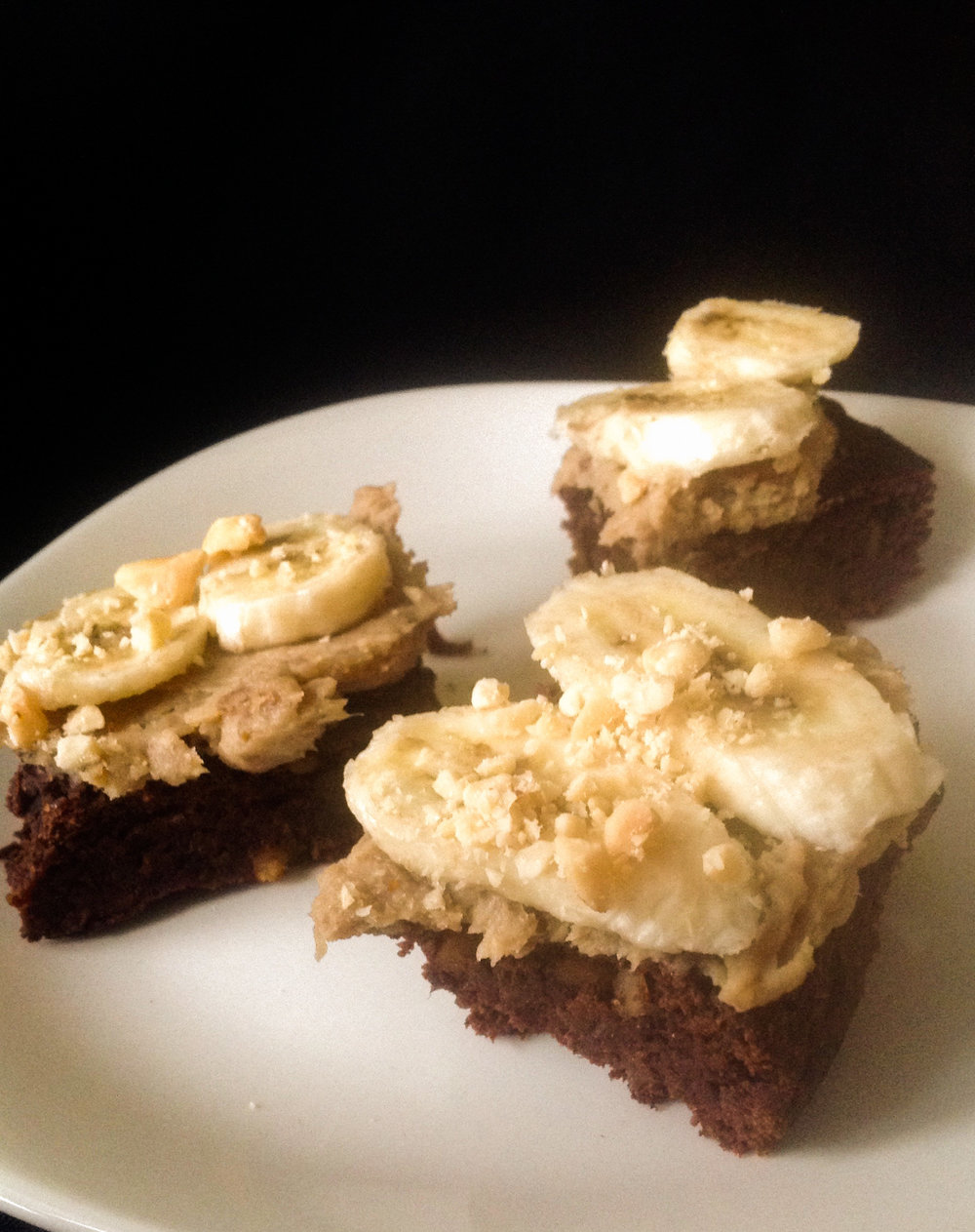 Vegan Chocolate Peanut Butter Banana Monkey Bars - Healthy, Whole Grain, Plant-Based, Oil-Free, Dessert, Kid-Friendly, Frosting