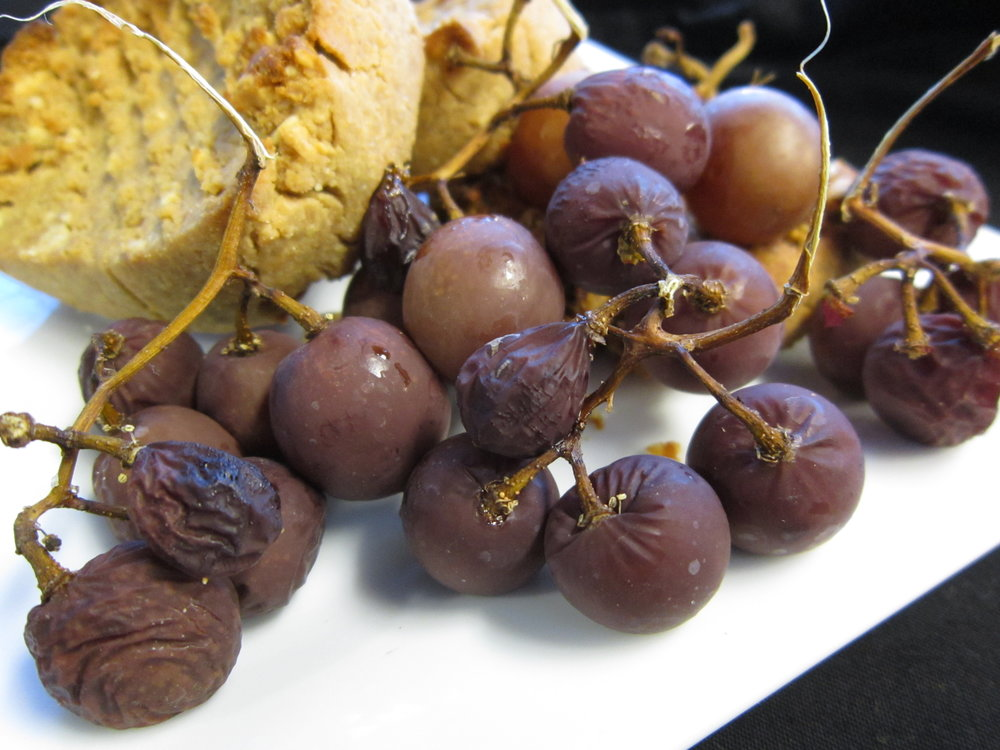 Chef's Healthy Tip: Roast Grapes at a low 250F for 1-2 hours for an intense, naturally-sweet treat to celebrate the New Year