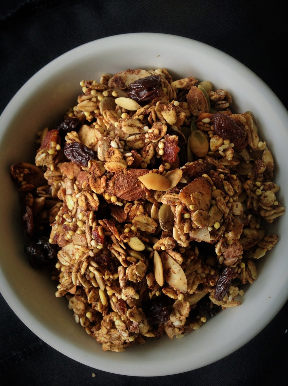 Pumpkin Seed Millet Gluten-Free Granola - Healthy, Plant-Based, Oil-Free, No Refined Sugar, Vegan Breakfast Snack Recipe