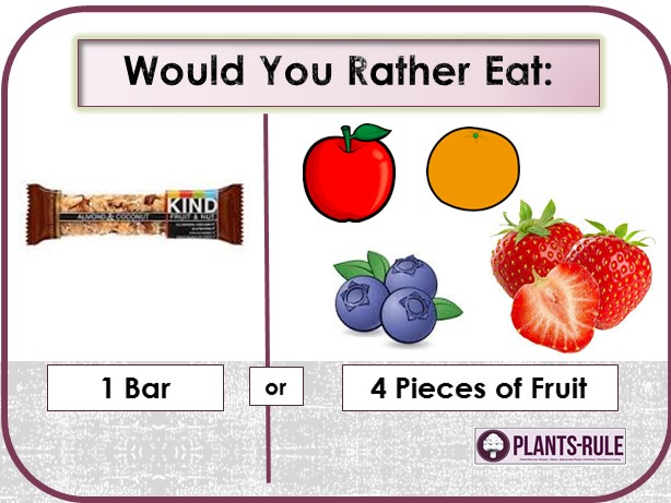 Would You Rather Eat a Granola Bar or 4 Pieces of Fruit for a Healthy Diet