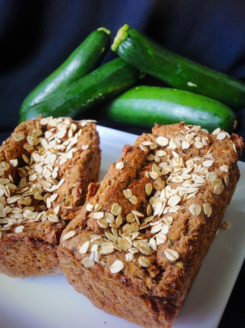 Zucchini Oat Bread - Healthy, Whole Grain, Oil-Free, Plant-Based, Vegan, No Sugar Added, Baking Recipe