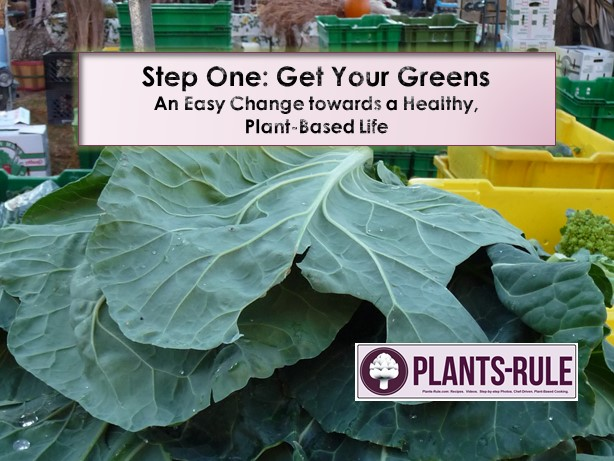 Step One - Get Your Greens Blog Post to Motivate you to eat more healthy dark green vegetables