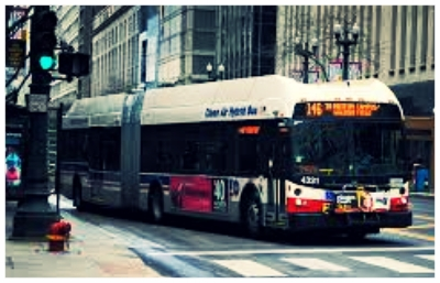 CTA Bus - part of the daily life in Chicago, and inspiration for a healthy talk about diet