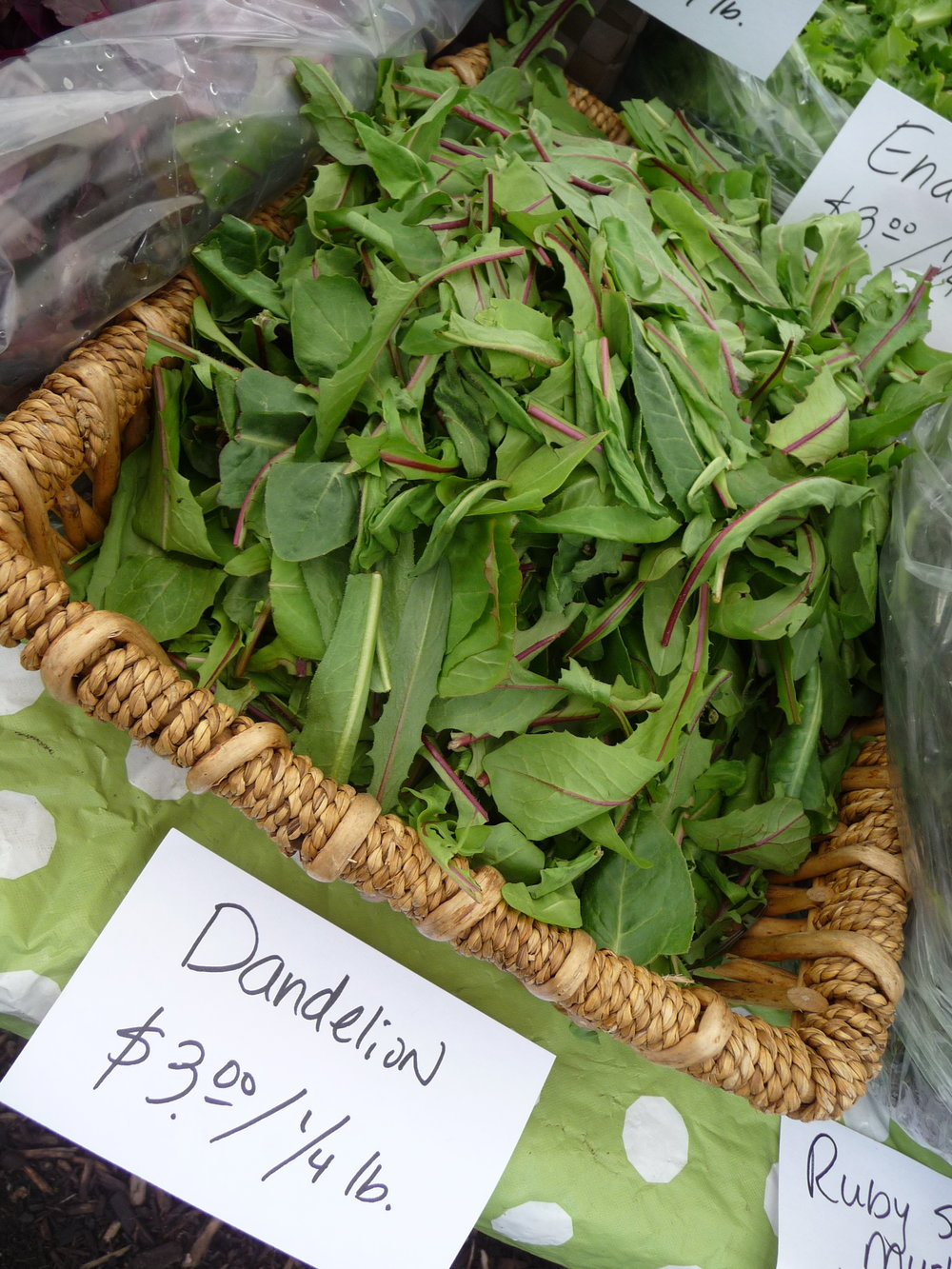 Dandelion Greens at the Farmers Market