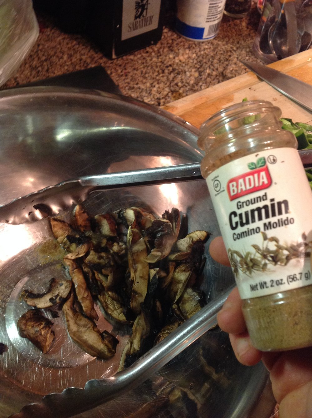 Chef's Tip - Sprinkle the grilled mushrooms with a cumin right after grilling.  The heat will create more intense, smoky flavor for this healthy vegan recipe