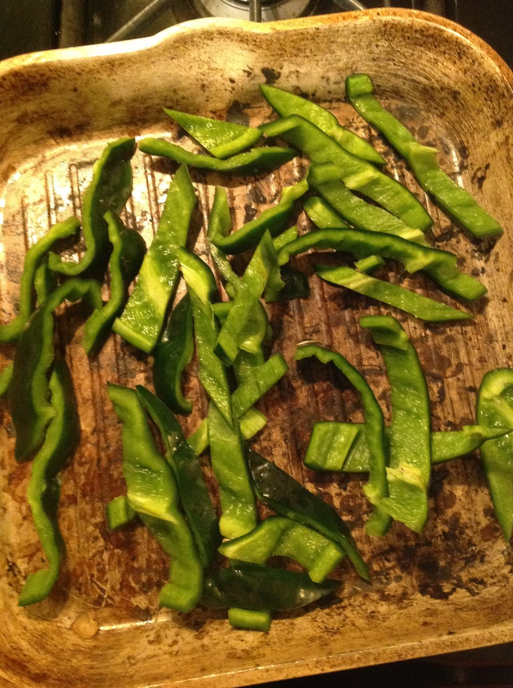 Chef's Tip - Poblano peppers are spicier than your regular bell peppers.  For milder spice, substitute with regular green, red, or yellow bell peppers