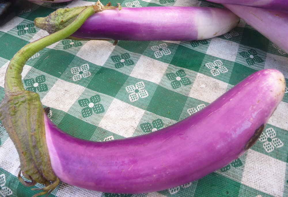 Chef's Tip: Chinese eggplant is long and slender.  There's no need to peel the skin, and it cooks much faster than big globe eggplants.  It's ideal for this quick, healthy weeknight stir-fry recip