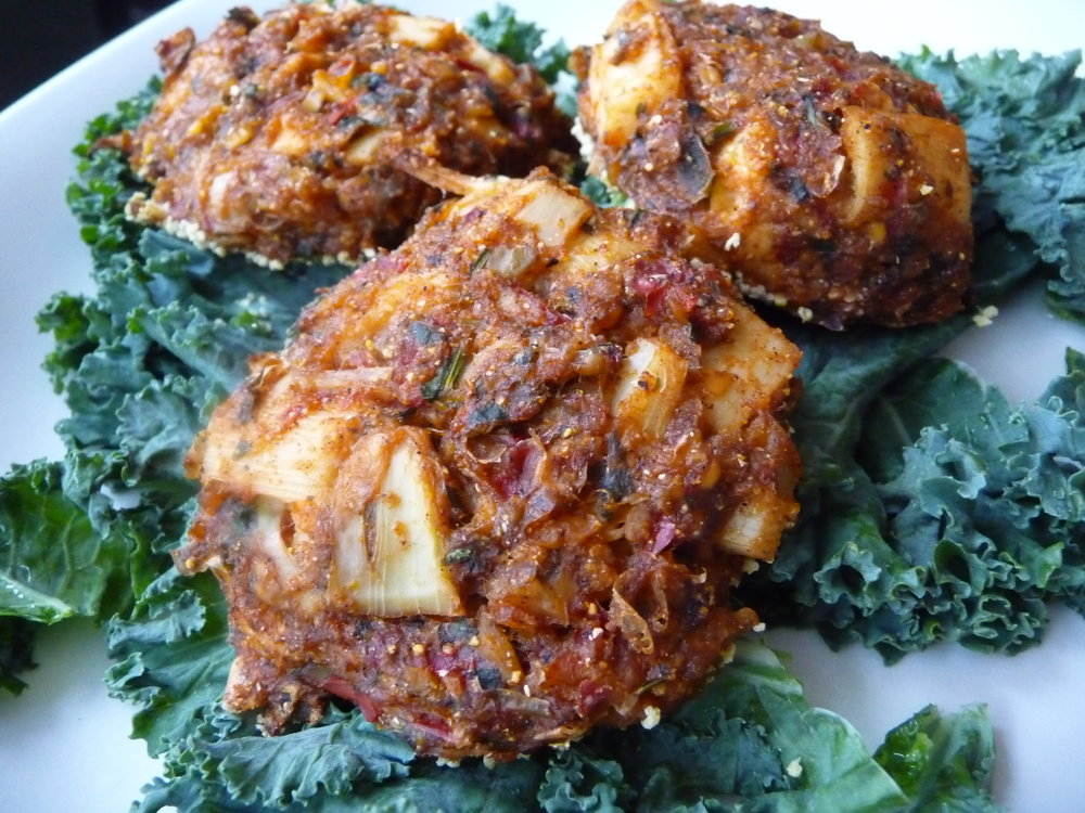 Crabless Hearts of Palm Cakes - Healthy, Oil-Free, Plant-Based, Vegan, Gluten-Free, Dinner Recipe