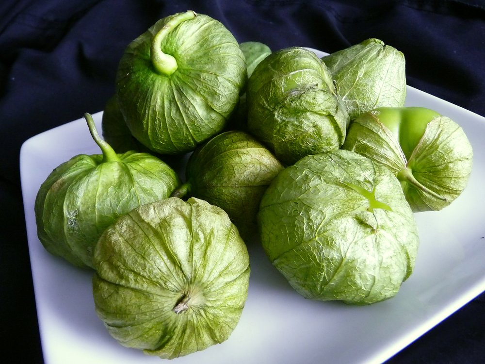 Chef's Tip: Tomatillos are green members of the nightshade family, related to tomatoes.  They have a tart, bright flavor.  Broiling them balances that tartness with bold flavor for a delicious, oil-free, healthy, plant-based Salsa Verde recipe
