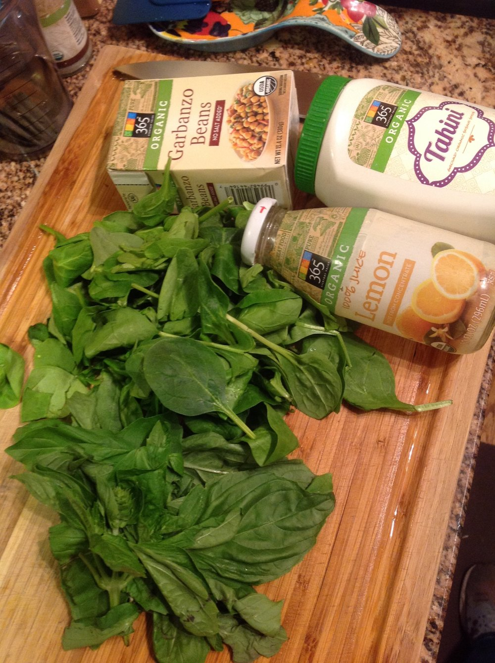Chef's Plant-Based Tip: Fresh Spinach and Basil add beautiful color and subtle sweetness, something kids particularly enjoy.  Use organic baby spinach for the most healthy flavor in this vegan, oil-free recipe