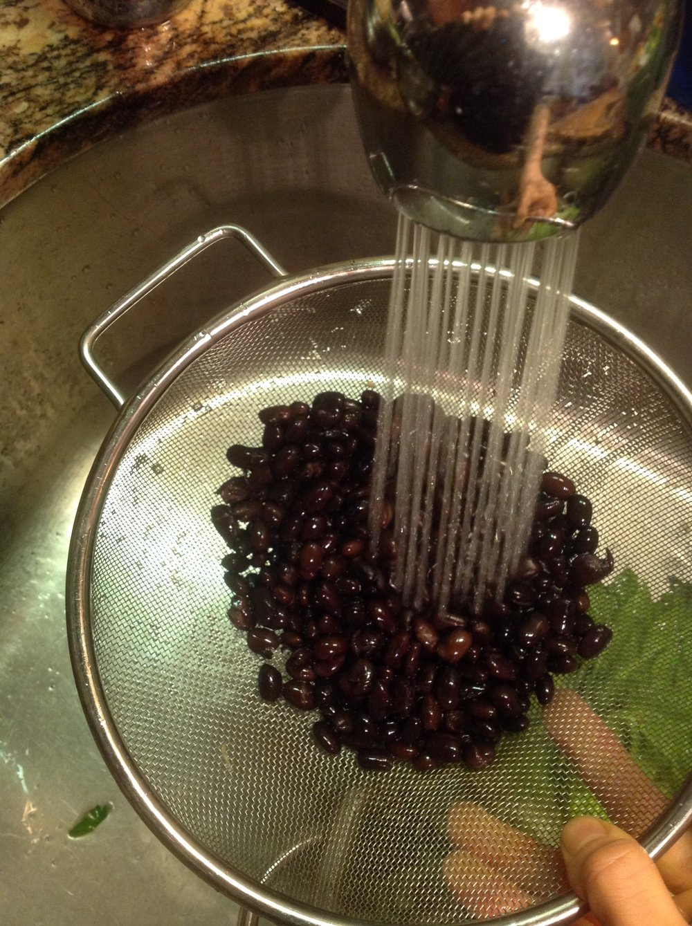 Chef's Cooking Tip: Always be sure to thoroughly rinse canned beans.  This will bring the ultimate flavor to this healthy, plant-based, oil-free vegan Black Bean Guacamole Salad recipe