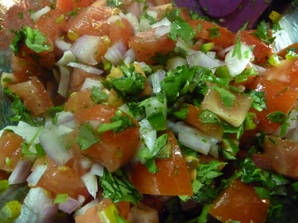 Pico de Gallo - Healthy, Gluten-Free, Oil-Free, Easy, Spicy, Vegan, Plant-Based Mexican Salsa Sauce Recipe