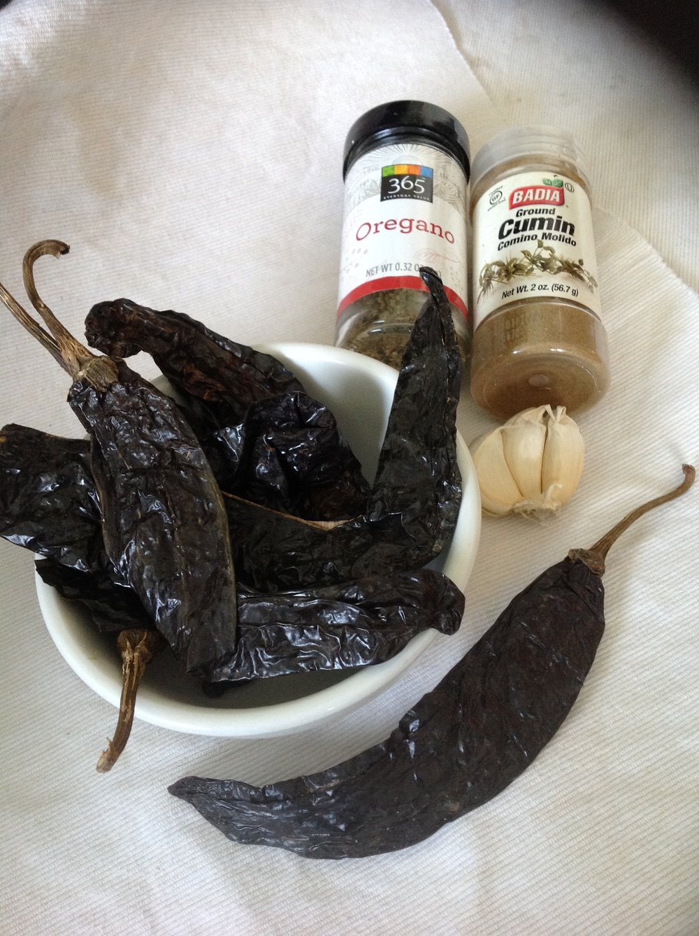Spicy Pasilla Pepper Sauce Ingredients - Healthy, Plant-Based, Oil-Free, Mexican Salsa Vegan Recipe