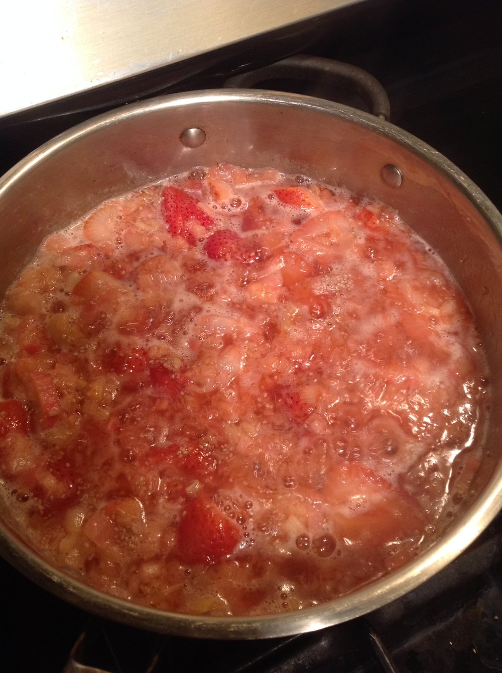 Chef's Tip:  To retain the crunchy texture, only simmer rhubarb for 10-15 minutes.