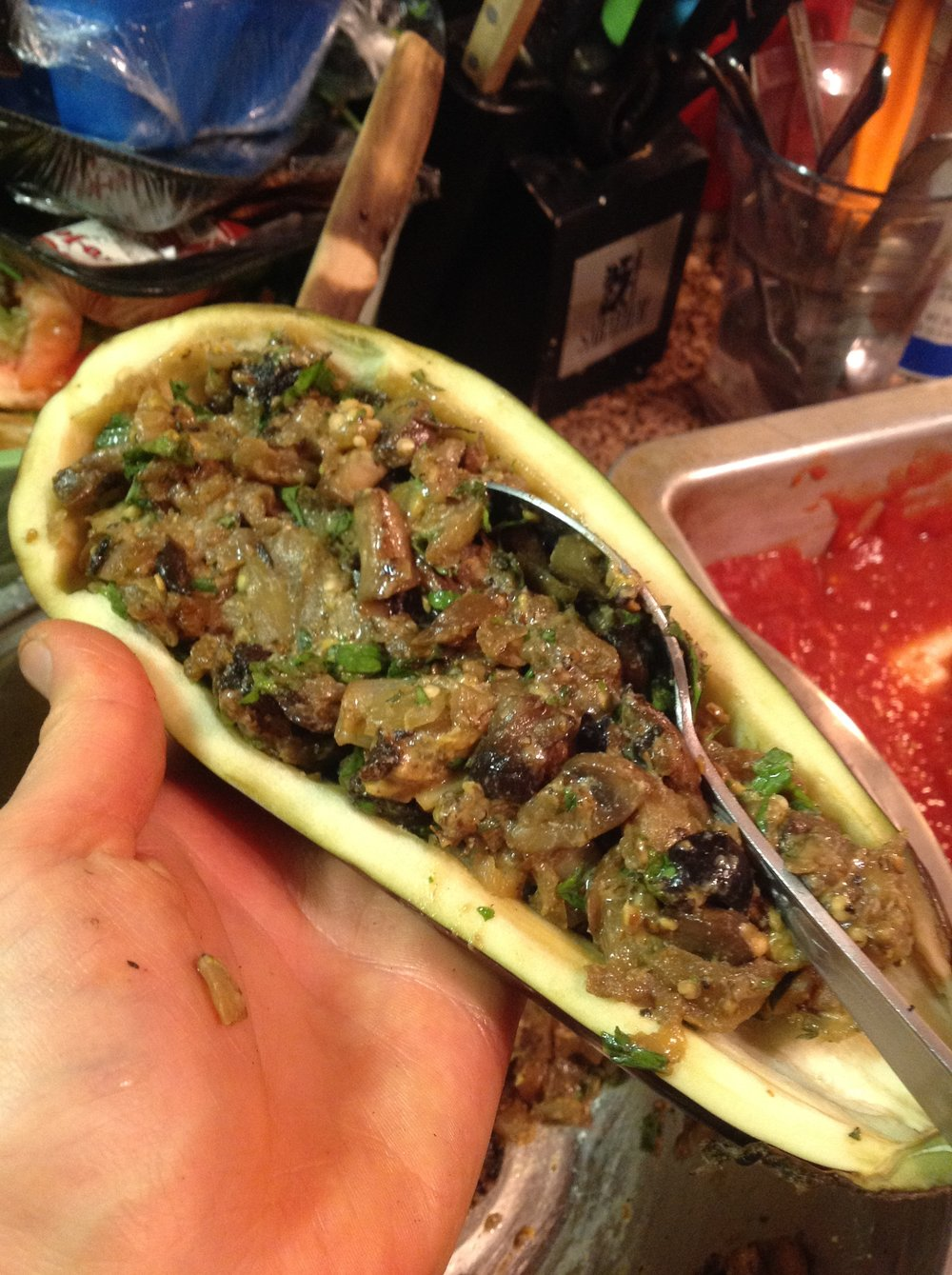 Chef's Tip:  You can make and stuff these eggplant ahead of time.  Simply assemble a day or two before you want to serve.  The flavors will develop even more for healthy, delicious Italian flavor