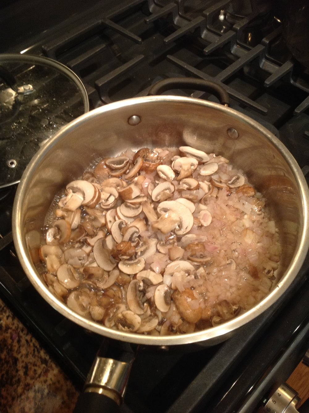 Chef's Tip:  Saute the mushrooms and onions until golden brown.  There's no need to use oil as the natural moisture from the vegetables will release while they cook for this healthy, plant-based recipe