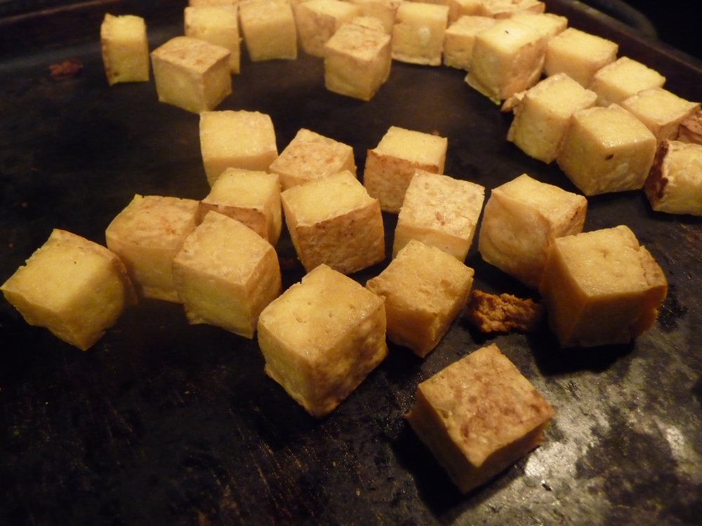 Chef's Flavor Tip:  Dry roast your cubed firm tofu for 12-15 minutes, until golden around the edges.  This adds interesting texture with healthy, satisfying plant-based protein.  You can use this roasted tofu in other stir-fry dishes, over vegan salads, or tossed into pasta dishes