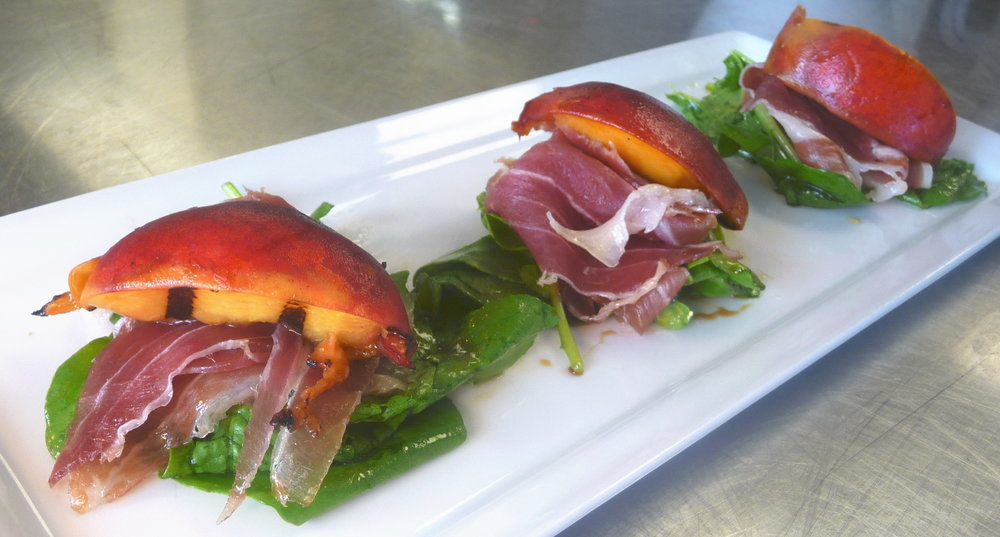 Kendall College Fine Dining: Grilled Peaches and Prosciutto