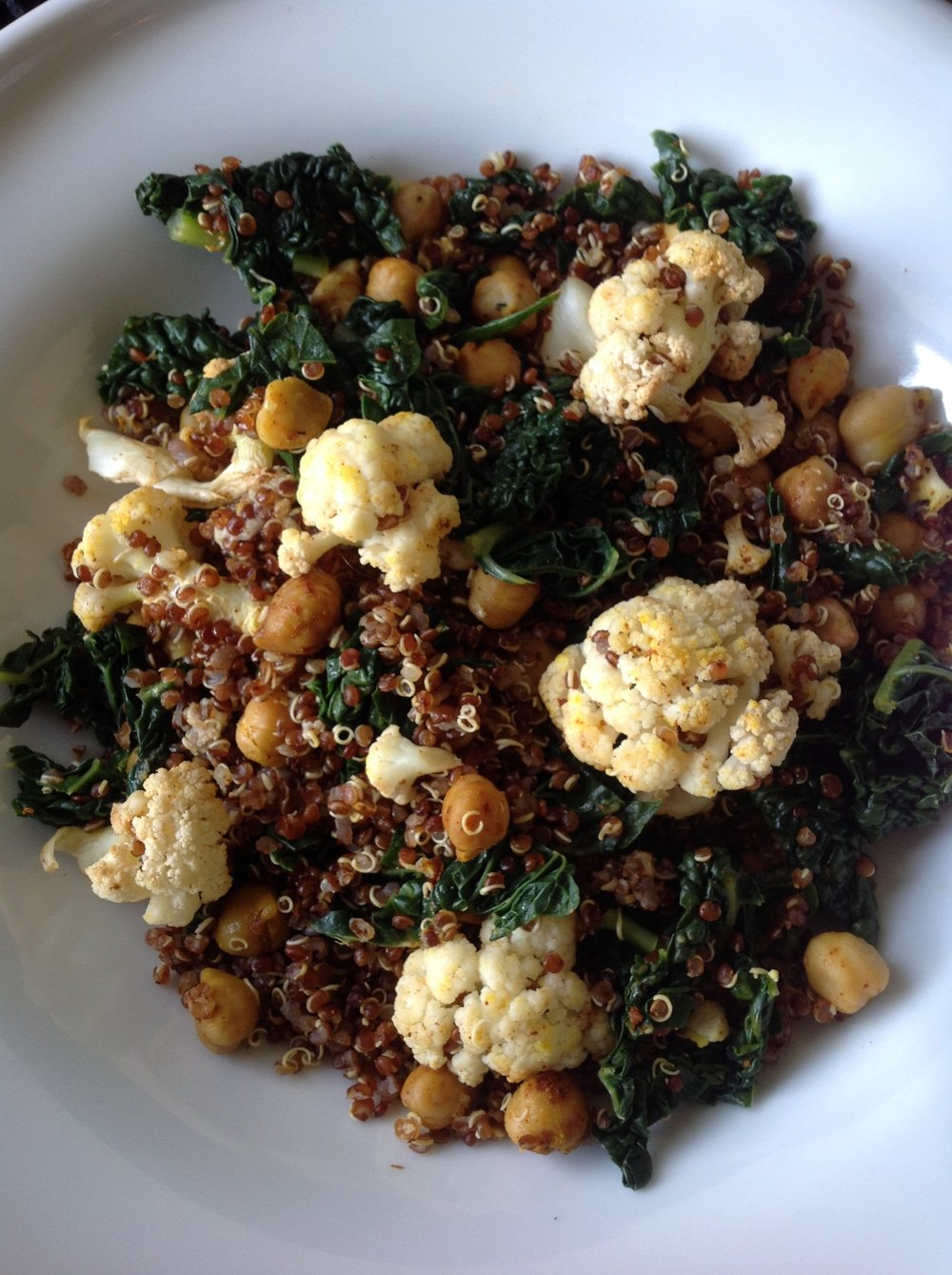 Roasted Cauliflower Grain Bowl
