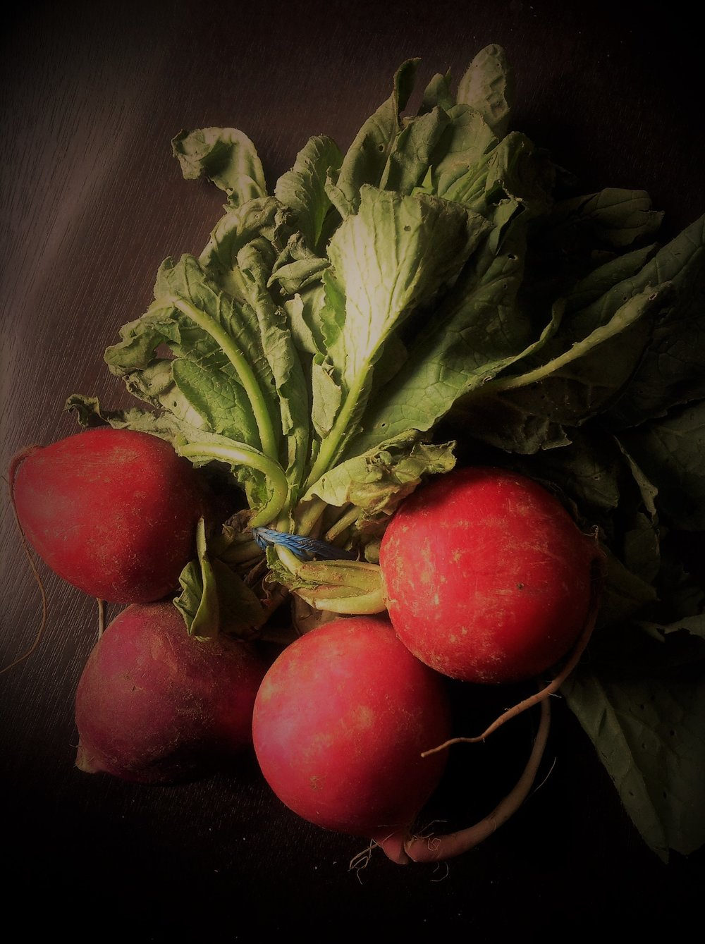 Fresh radishes are a delicious, healthy vegetable. Enjoy raw for a crispy texture on salads or chili.  Braise or roast for your favorite oil-free vegan recipes