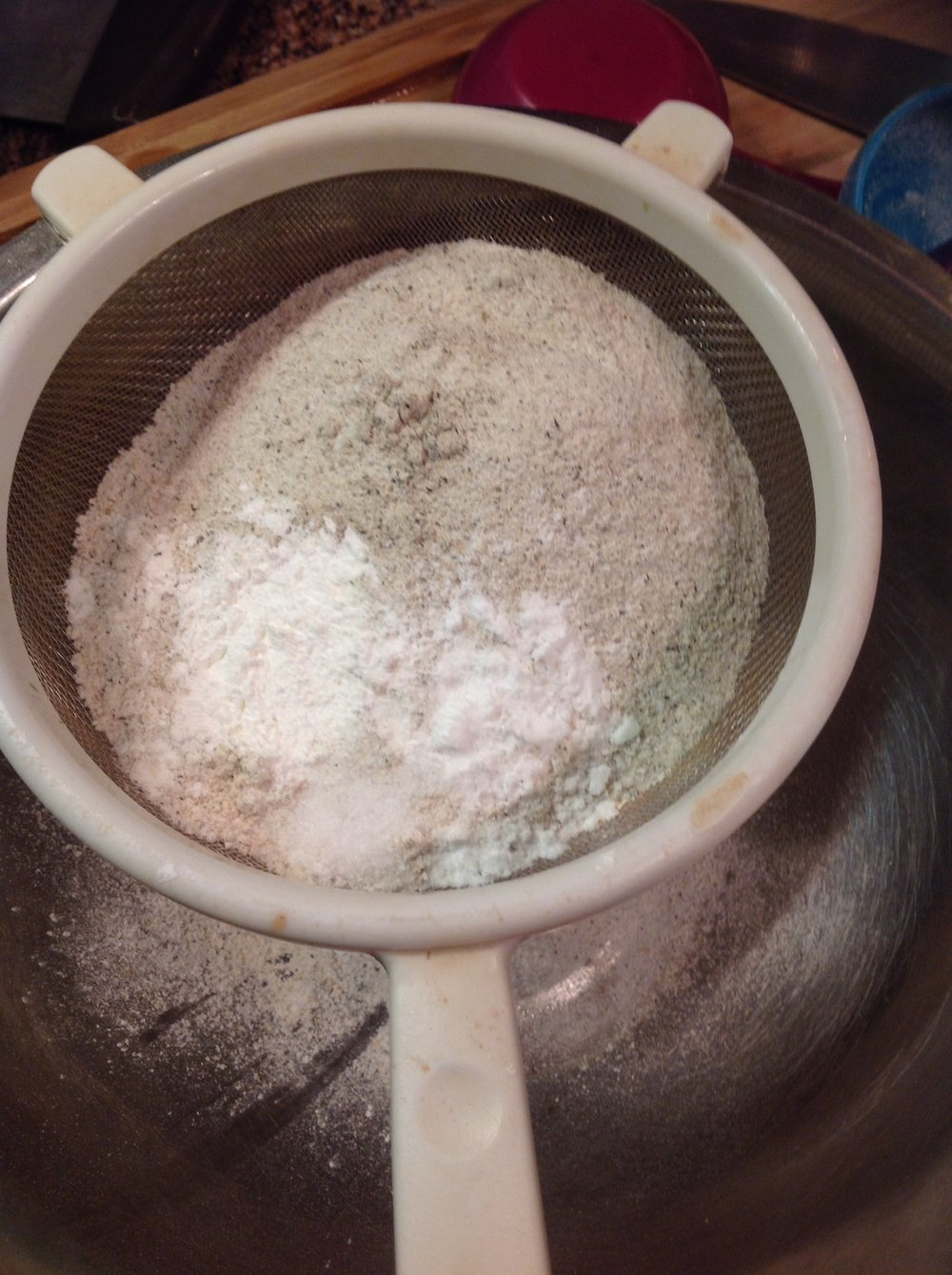 Chef's Baking Tip:  Always sift together your dry ingredients to remove any lumps and create a lighter, fluffier batter