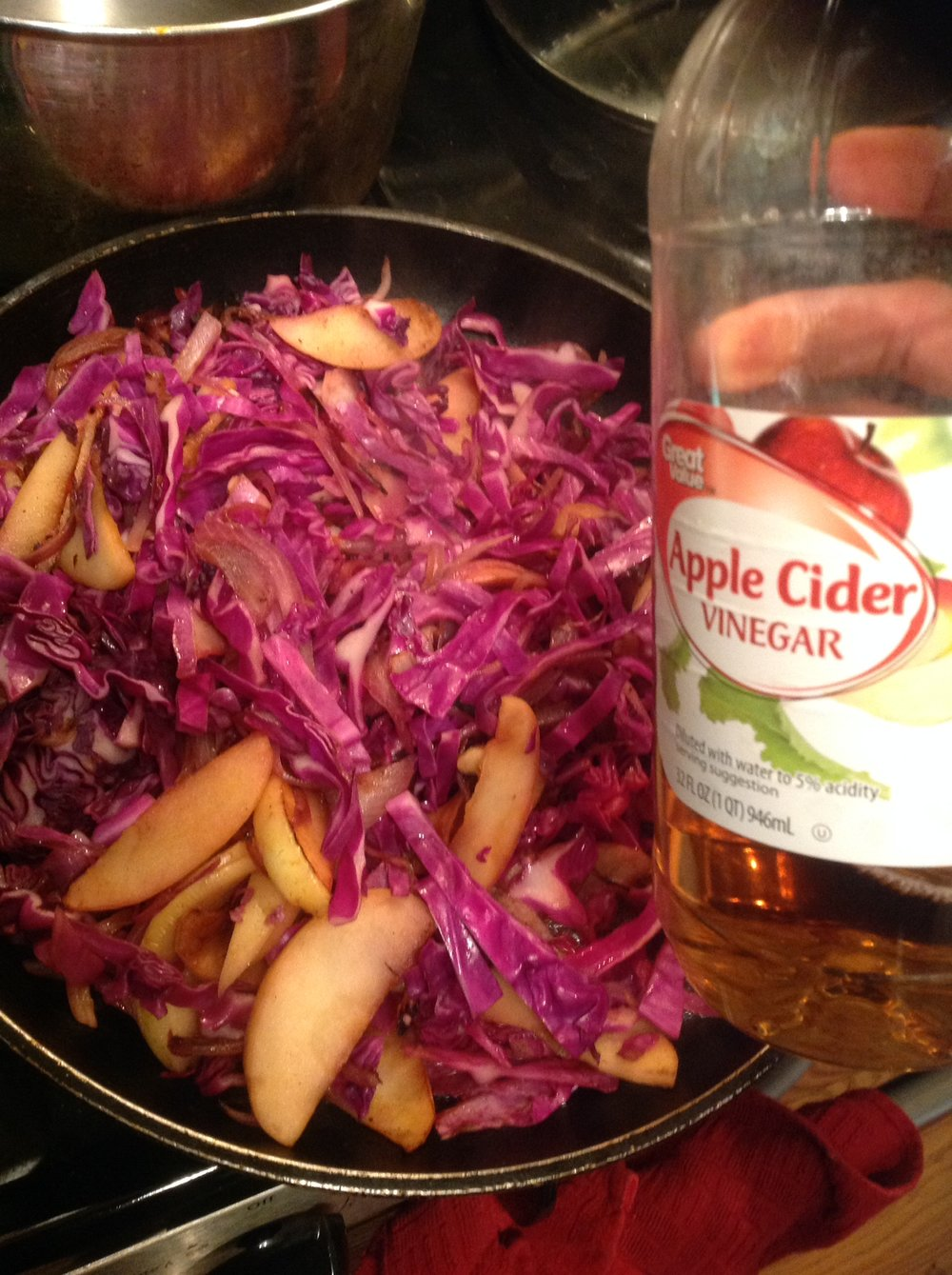 Chef's Plant-Based Tip: Braise red cabbage with apple and a touch of cider vinegar for a tangy-sweet, plant-based side dish. It's the ultimate easy recipe, packed with antioxidants, for staying healthy over the winter