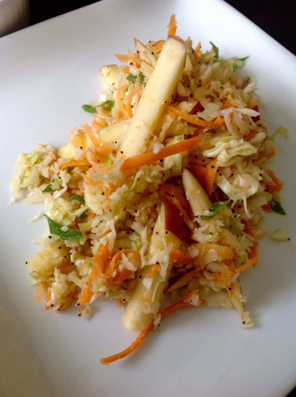 Apple Cabbage Slaw with Poppyseed Dressing