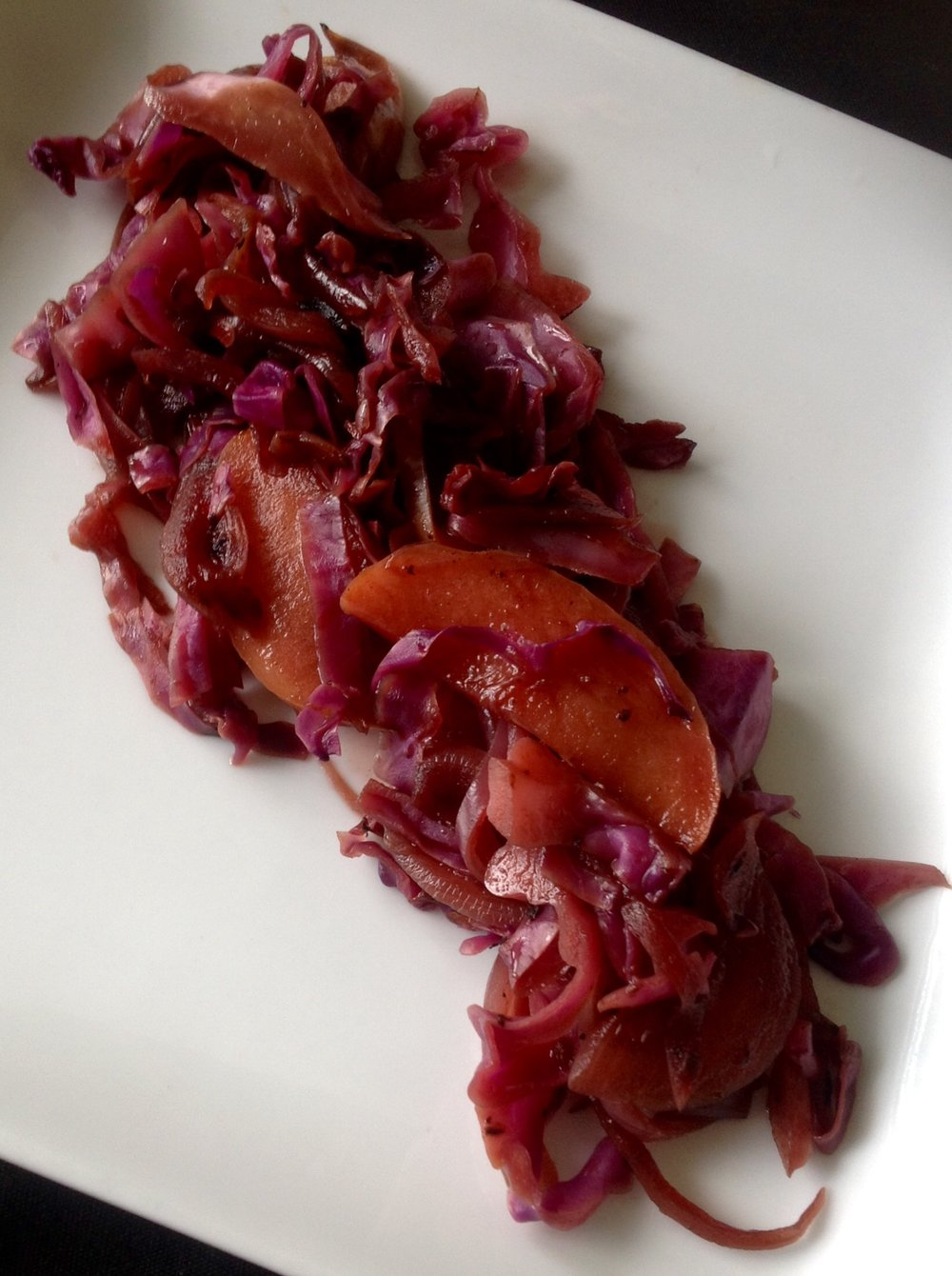 Simple Braised Red Cabbage and Apples