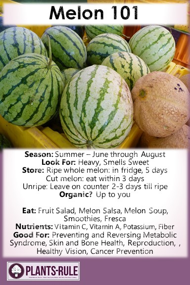 Melon 101 - Helpful pin on how to choose, store, and use peaches plus nutrition and recipe ideas