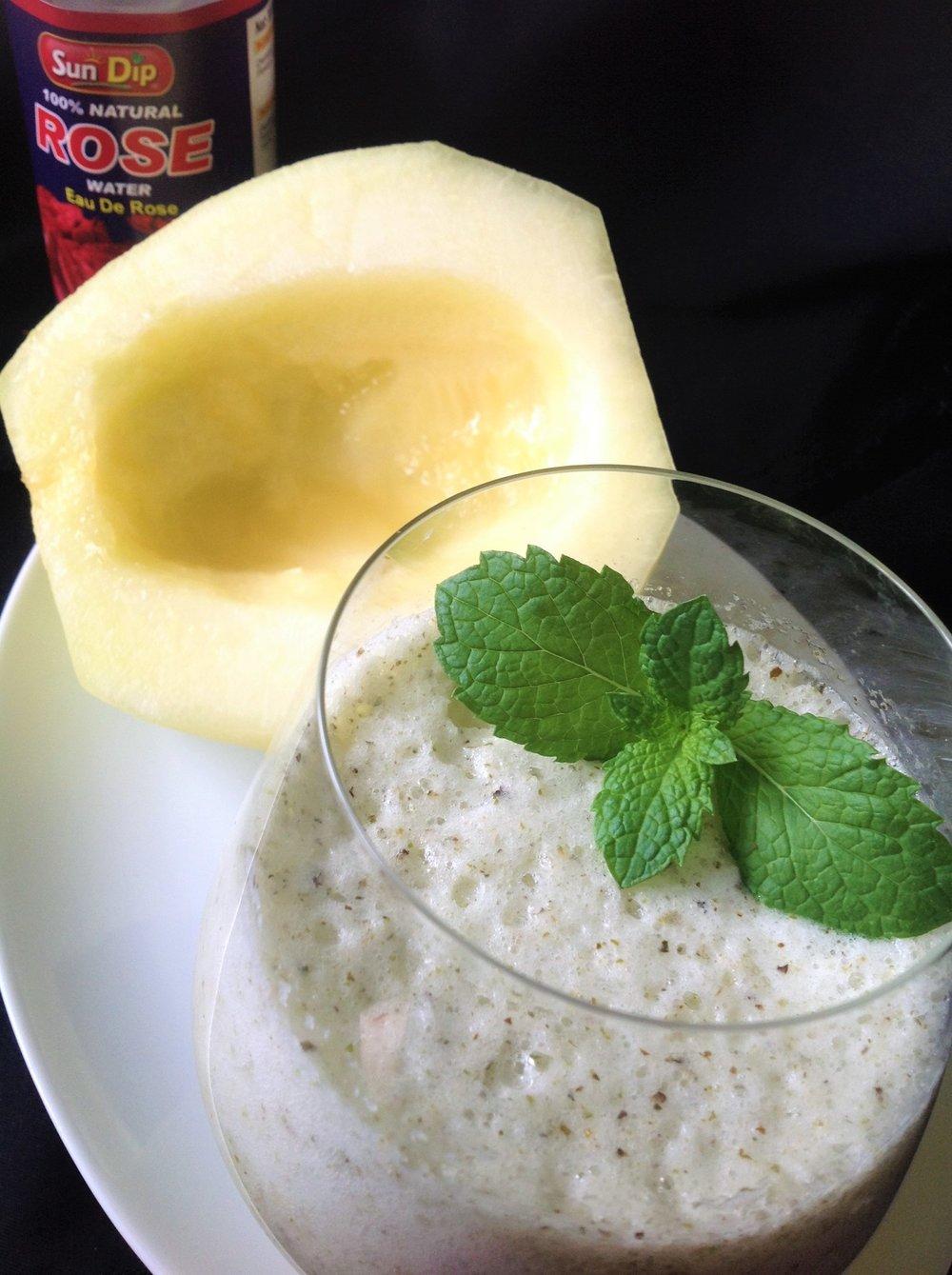 Rosewater Galia Melon Mint Fresca