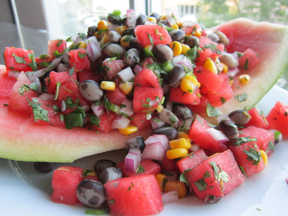 Black Calypso Bean Salsa with Watermelon